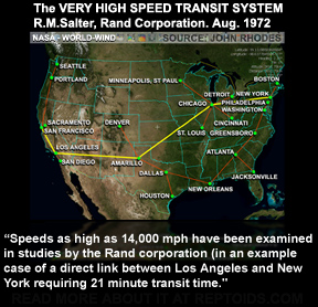 Americas Secret VHST Tunnel System - Map of underground tunnels in the us